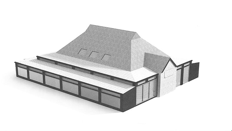 Architect's concept of Wrap around extension