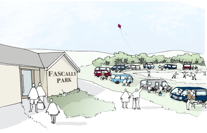 Concept Visitor Services Hub Fascally Park Brora