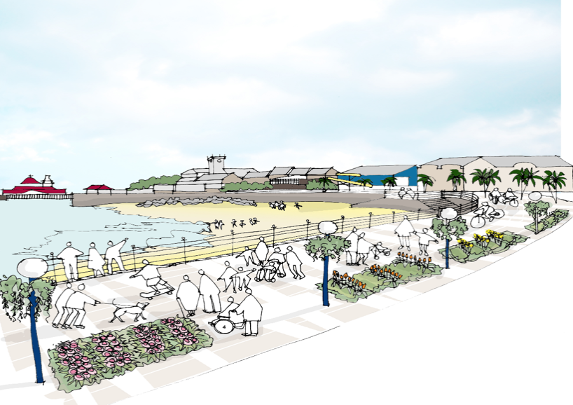 Concept of redesigned Dunoon Promenade