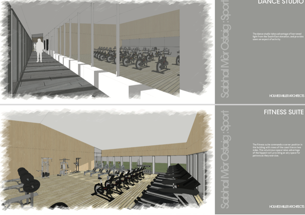 Architect's concepts of the new Sports Facilities